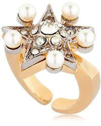 Schield - Star Line Ring W/ Swarovski Crystals - Lyst