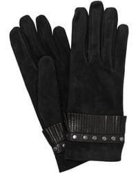 Mario Portolano - Suede Gloves With Fringes & Studs - Lyst