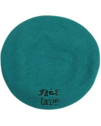 Facetasm - Logo Embroidered Wool Beret - Lyst