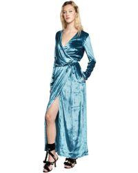 Attico - Raquel Velvet Wrap Gown - Lyst