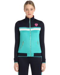 Juicy Couture - Stripes Jersey Bomber Jacket - Lyst