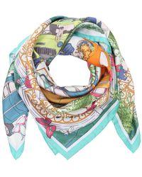 Ferragamo - Cuba Printed Silk Twill Scarf - Lyst