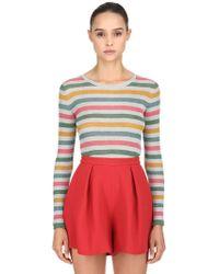 L'Autre Chose - Striped Lurex Knit Jumper - Lyst