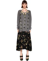 Antonio Marras - Embellished Floral Viscose Crepe Dress - Lyst