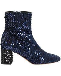Rochas - 60mm Sequined Velvet Ankle Boots - Lyst