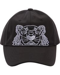 KENZO - Tiger Embroidered Nylon Canvas Hat - Lyst