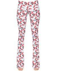 Just Cavalli - Heart Printed Viscose Trousers - Lyst