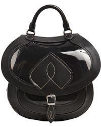 Maison Margiela - Medium Sheer Pvc & Leather Saddle Bag - Lyst