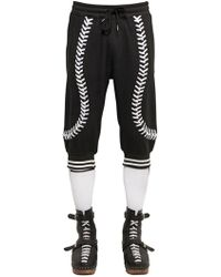 KTZ - Baseball Seams Crop Cotton Jogging Trousers - Lyst
