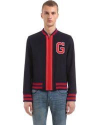 gucci varsity jacket. gucci   wool felt varsity jacket lyst l