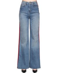 Tommy Hilfiger - Two Tone Flared Denim Jeans - Lyst