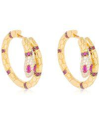Apm Monaco - Uraeus Hoop Earrings With Ruby - Lyst