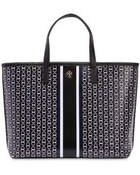 Tory Burch - Small Gemini Link Coated Canvas Tote Bag - Lyst