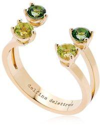 Delfina Delettrez - Green Dots Ring - Lyst