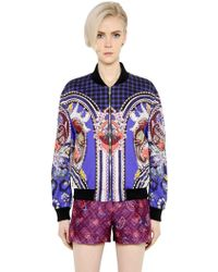 Mary Katrantzou - Printed Cotton Poplin Bomber Jacket - Lyst