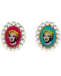 Bijoux De Famille - Marylin Cameo Earrings - Lyst