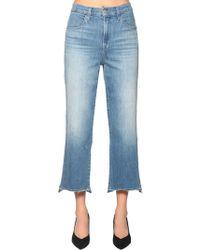 J Brand - Joan High Cropped Wide Leg Denim Jeans - Lyst