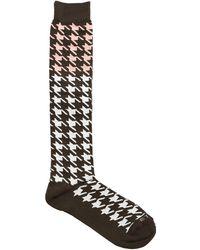 Etro - Macro Houndstooth Jacquard Socks - Lyst