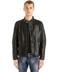 G-Star RAW - Empral Deconstructed Leather Jacket - Lyst