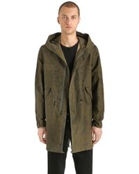 Mr & Mrs Italy - Cotton & Linen Canvas Long Army Parka - Lyst