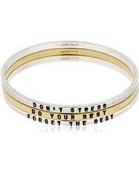 GIOIELLI CORSINI | Don't Stress Set Of 3 Bangle Bracelets | Lyst