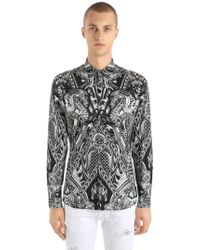 Just Cavalli - Dragons Printed Stretch Poplin Shirt - Lyst