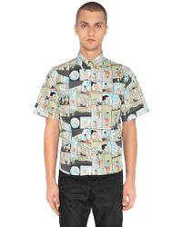 Prada - Camicia In Popeline Di Cotone - Lyst