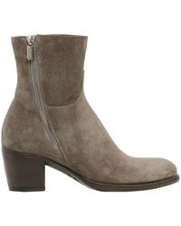 Rocco P - 40mm Zipped Suede Ankle Boots - Lyst
