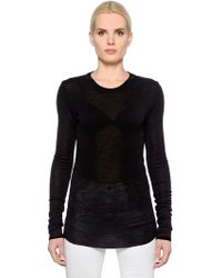 Étoile Isabel Marant - Wool Jersey Long Sleeve T-shirt - Lyst