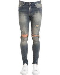 Represent - Destroyer Sand Blasted Denim Jeans - Lyst