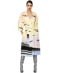 Daniele Carlotta - Printed Light Viscose Pinpoint Coat - Lyst
