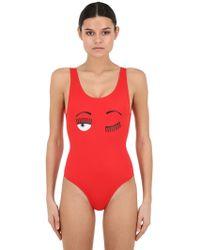 Chiara Ferragni - Printed One Piece Swimsuit - Lyst