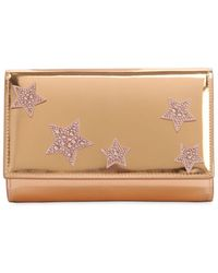 Giuseppe Zanotti - Stars Metallic Leather Clutch - Lyst