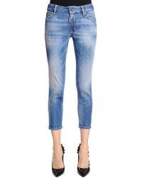 DSquared² - Jeans Twiggy Cropped De Denim - Lyst