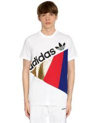 adidas Originals - Tribe Patchwork Cotton Jersey T-shirt - Lyst