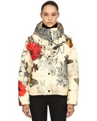 Moncler - Caille Printed Nylon Down Jacket - Lyst