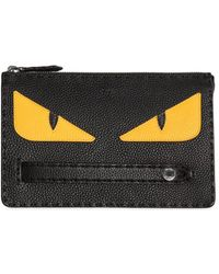 Fendi - Monster Textured Leather Pouch - Lyst