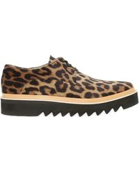 Stella McCartney - Leopard Print Platform Shoes - Lyst