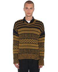 AMI - Pullover Aus Baumwoll/leinenstrick - Lyst