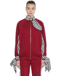 House of Holland - Bomber En Vichy Et Tricot - Lyst