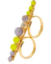 Anton Heunis - Color Block Double Finger Ring - Lyst