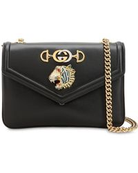 5e193f86c Gucci Tigrette Shoulder Bag with Tiger Head and Chain Detail in Green - Lyst