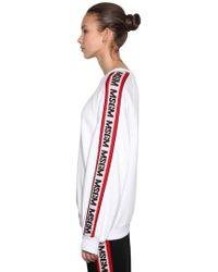 MSGM - Oversized Logo Bands Cotton Sweatshirt - Lyst