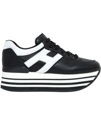 Hogan   70mm Maxi 222 Leather Sneakers   Lyst