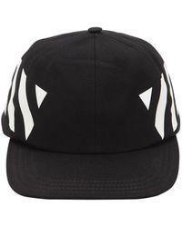 fec2059b Off-White c/o Virgil Abloh Marble Cotton Canvas Baseball Hat in Gray for  Men - Lyst