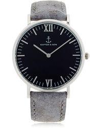KAPTEN & SON - 40mm Vintage Leather Watch - Lyst
