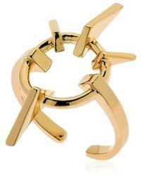 Schield - Geometrical Love Brass Ring - Lyst