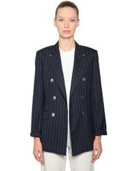 Max Mara - Cool Wool Pinstripe Blazer - Lyst