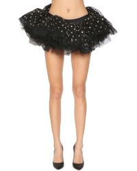 e117f28f29 Moschino Cotton Fishnet Mini Skirt in Black - Lyst