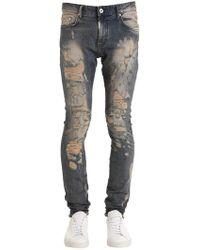Represent - Shredded Sand Blasted Denim Jeans - Lyst